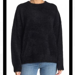 Mustard Seed Round Neck Fuzzy Sweater
